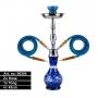 Narghilè doppio tubo 45cm (Blu)